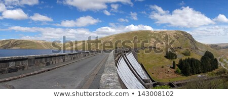 водохранилище дороги Панорама небе воды белый Сток-фото © latent