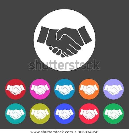 green red handshake Stock photo © Nelosa