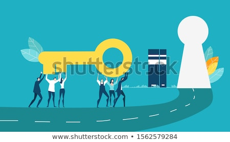Analysis - Golden Key. Stock photo © tashatuvango