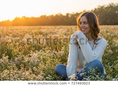 少女 女性 紅葉 ベクトル 葉 オレンジ ストックフォト © beaubelle