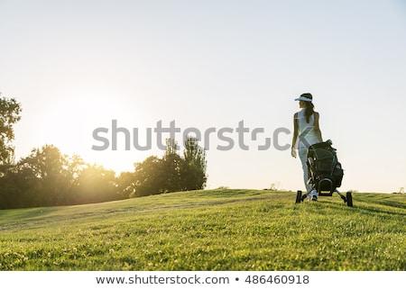 портрет · женщину · играет · гольф · лет · улыбка - Сток-фото © brunoweltmann
