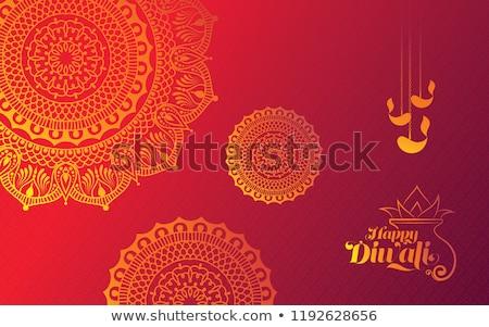 Diwali Background With Rangoli Stock photo © rioillustrator