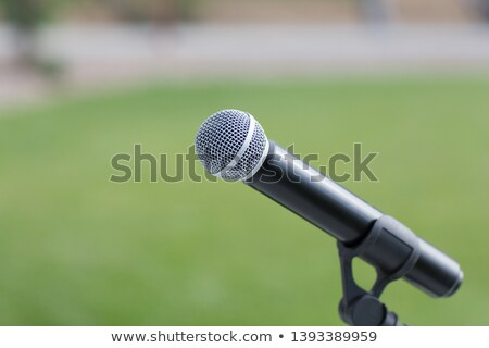 Zdjęcia stock: Mikrofon · pusty · etapie · czeka · głos · kopia · przestrzeń
