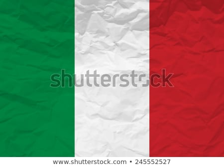 Italy flag on Crumpled paper texture Stock photo © stevanovicigor