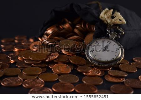 despertador · monedas · 3d · blanco - foto stock © stevanovicigor