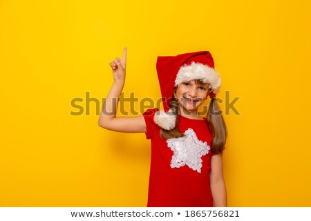 kid pointing towards blank space stock photo © icefront