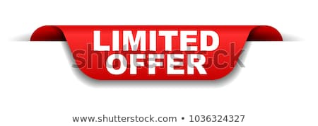 limited offer on red banner Stock photo © marinini