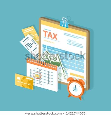Idő illetmény adózás vízszintes fotó hitelkártya Stock fotó © tab62