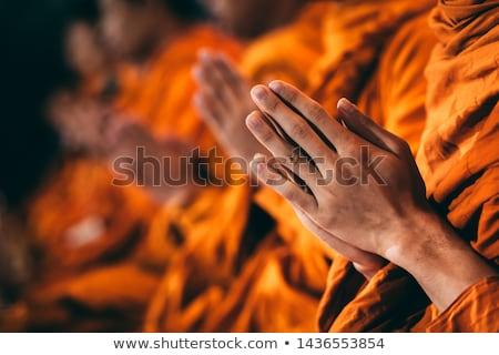 Budist odak bir el kilise grup Stok fotoğraf © smuay