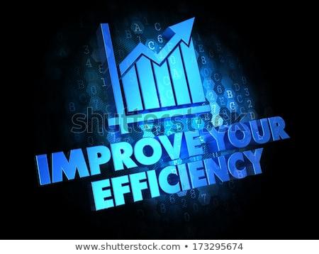 Eficiencia digital crecimiento tabla azul Foto stock © tashatuvango