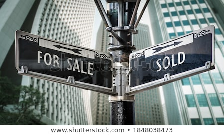 Stock photo: Sold signpost
