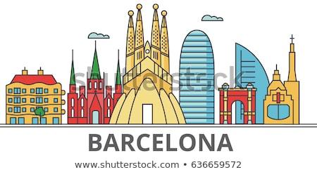 Familia iglesia Barcelona árbol edificio ciudad Foto stock © dinozzaver