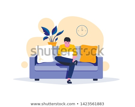 Adult Education on Yellow in Flat Design. Stock photo © tashatuvango