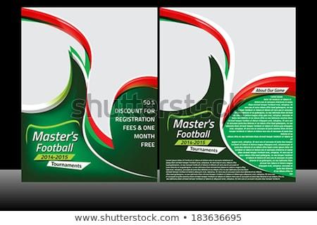 マスター サッカー チラシ テンプレート サッカー スポーツ ストックフォト © rioillustrator