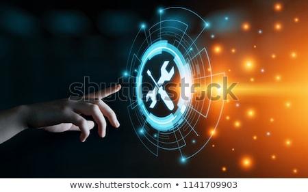 Computer Netzwerk Werkzeuge Anordnung Schneiden Stock foto © zhekos