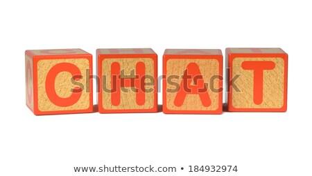 Chat - Colored Childrens Alphabet Blocks. Stock photo © tashatuvango