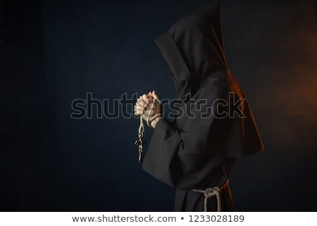 Monk with rosary Stock photo © anbuch