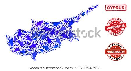 piros · pecsét · Ciprus · csillagok · ipar · bolt - stock fotó © tashatuvango