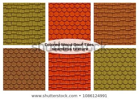 Wooden Roof Shingles Stock photo © pancaketom