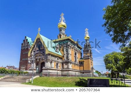 Ortodoxo russo blue sky arte verão igreja Foto stock © meinzahn