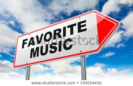 Favori müzik kırmızı yol işareti gökyüzü Stok fotoğraf © tashatuvango