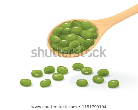 Wooden scoop with mung beans Stock photo © Zerbor