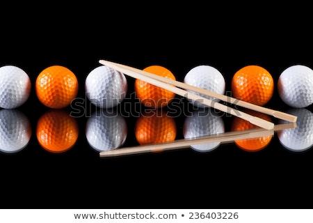 golfe · preto · vidro · tabela · secretária - foto stock © capturelight