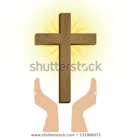 Иисус · Христа · тело · кровь · христианской · вино - Сток-фото © user_8545756