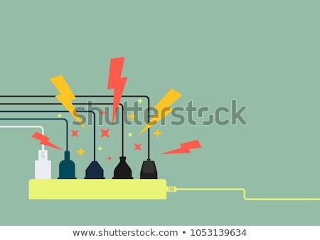 telleri · güç · bar · çok · elektrik · teknoloji - stok fotoğraf © ozaiachin