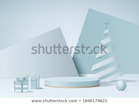 christmas in 3d cubes stock photo © marinini