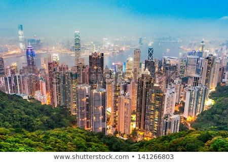 Гонконг аннотация движения ночь движения зданий Сток-фото © tangducminh