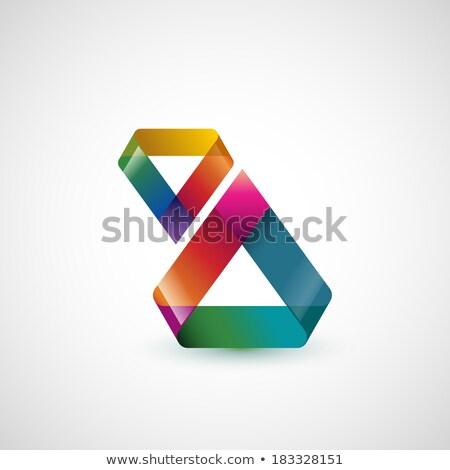 Сток-фото: ярко · треугольник · логотип · вектора · дизайна