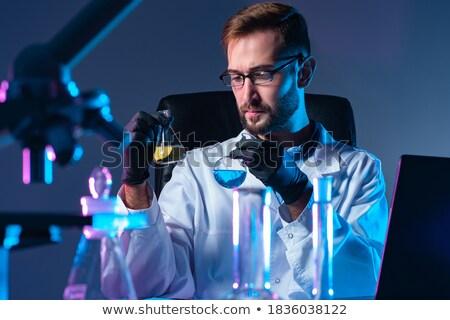 Asistan kimyasal su tıbbi cam tıp Stok fotoğraf © OleksandrO