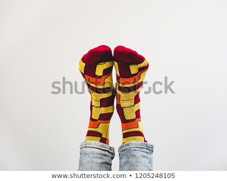 man legs in colorful funny socks   isolated stock photo © ruslanomega