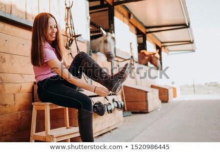 Közelkép kép nő öntet lány szexi Stock fotó © deandrobot
