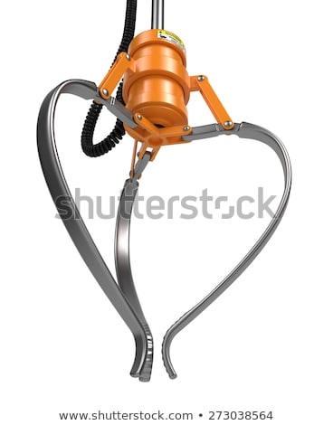 Closed Metal Robotic Claw in Orange Color. Stock photo © tashatuvango