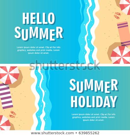 vakantie · illustraties · belangrijk · pack · zomervakantie · vakantie - stockfoto © vectorikart