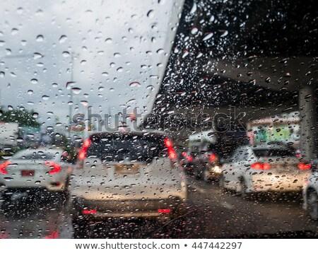 Lluvioso día coche carretera lluvia ventana Foto stock © Ainat