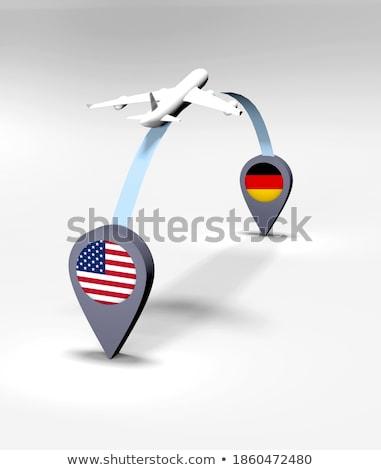 3D · futebol · EUA · Alemanha · bandeira - foto stock © mhristov
