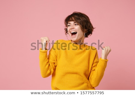 Funny young woman posing Stock photo © NeonShot