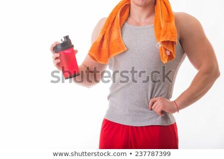Primer plano retrato deportivo joven proteína beber Foto stock © wavebreak_media