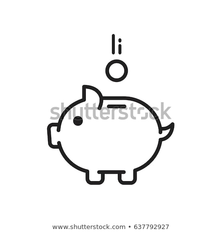 Pink money pigg with Euro Stock photo © fotoquique