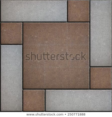 Stock photo: Brown and Gray Rectangles Paved. Seamless Texture.