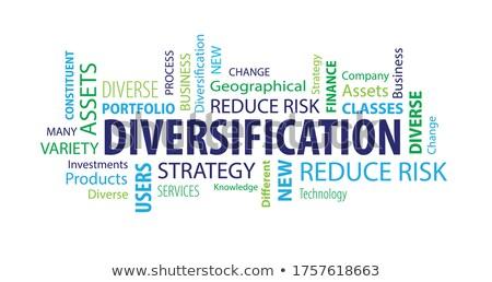 financeiro · risco · diferente · azul - foto stock © lightsource