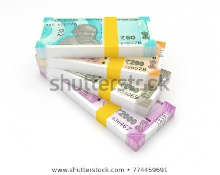 Indian waluta banku zauważa biały działalności Zdjęcia stock © szefei