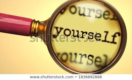 Evaluate yourself words Stock photo © fuzzbones0