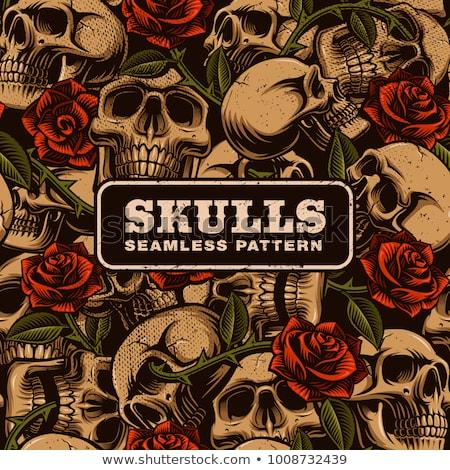 skull and Revolver pattern Stock photo © netkov1