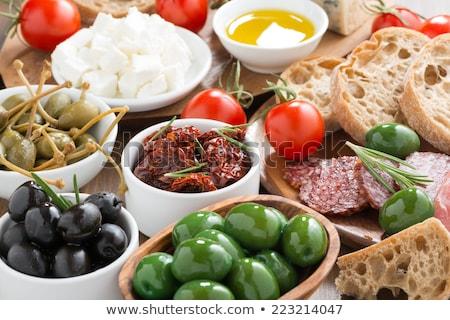 Salsicha pão temperos isolado branco comida Foto stock © GeniusKp