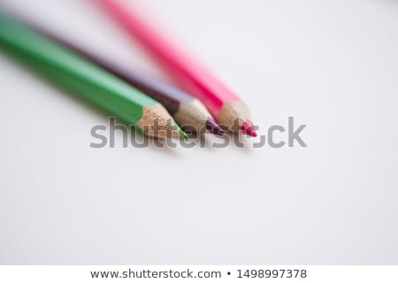 Three colored pencils Stock photo © OleksandrO