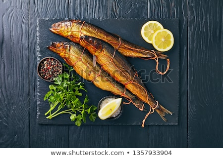 smoked baltic herring stock photo © saharosa